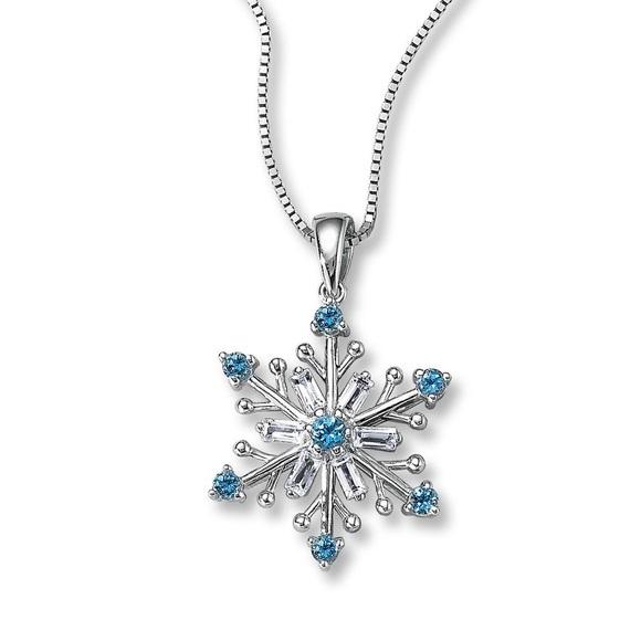 Kay Jewelers Jewelry Frozen Blue White Topaz Snowflake Poshmark